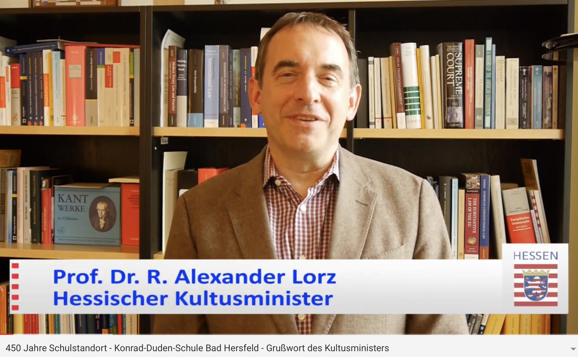 Grußwort Prof. Dr. Lorz